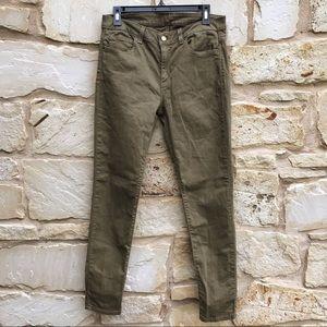 Michael Kors Olive Green 5 Pocket Skinny Jeans 6